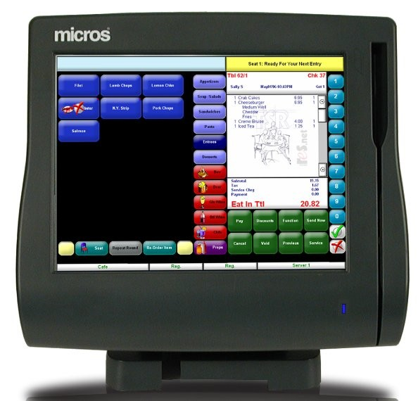 Micros Ws4lx Terminal With Stand Mws4lx
