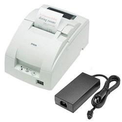 Epson TM-U220B USB Printer w/ P/S; white (TM220BUWPS)