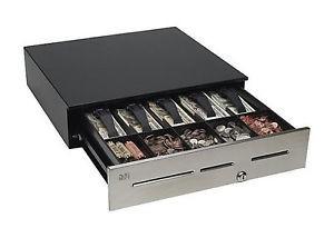 "MMF 18"" Advantage 3-Slot Cash Drawer; Stainless; black (MMFA13B11310GN)"