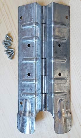 Pallet Hinge, 8, zinc-coated steel (PALTHNG1)