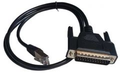 RJ45 to DB25 male, Null Modem Cable COM to Epson serial printer (RJ4525D3N)