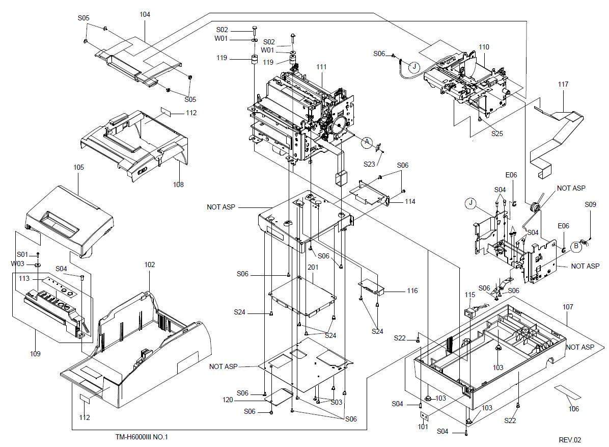 Epson TM-H6000III Printer Part (TM60003X)