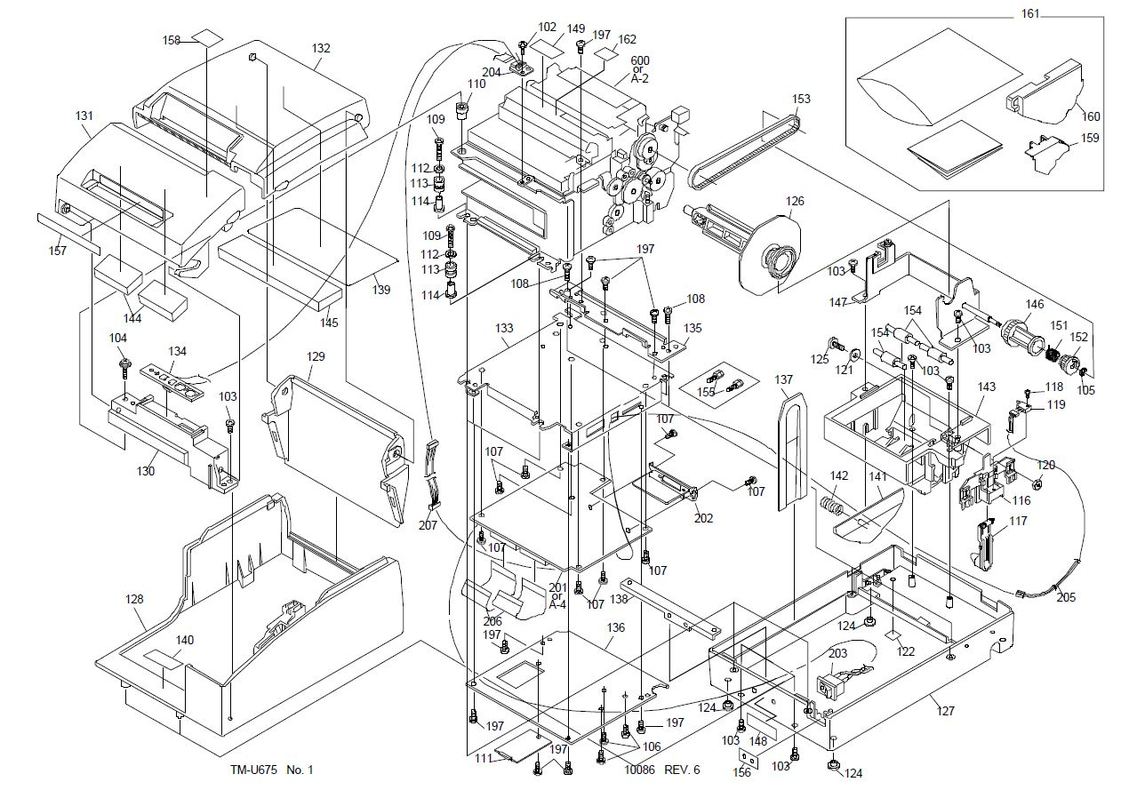 Epson TM-U675 Printer Part (TM675X)
