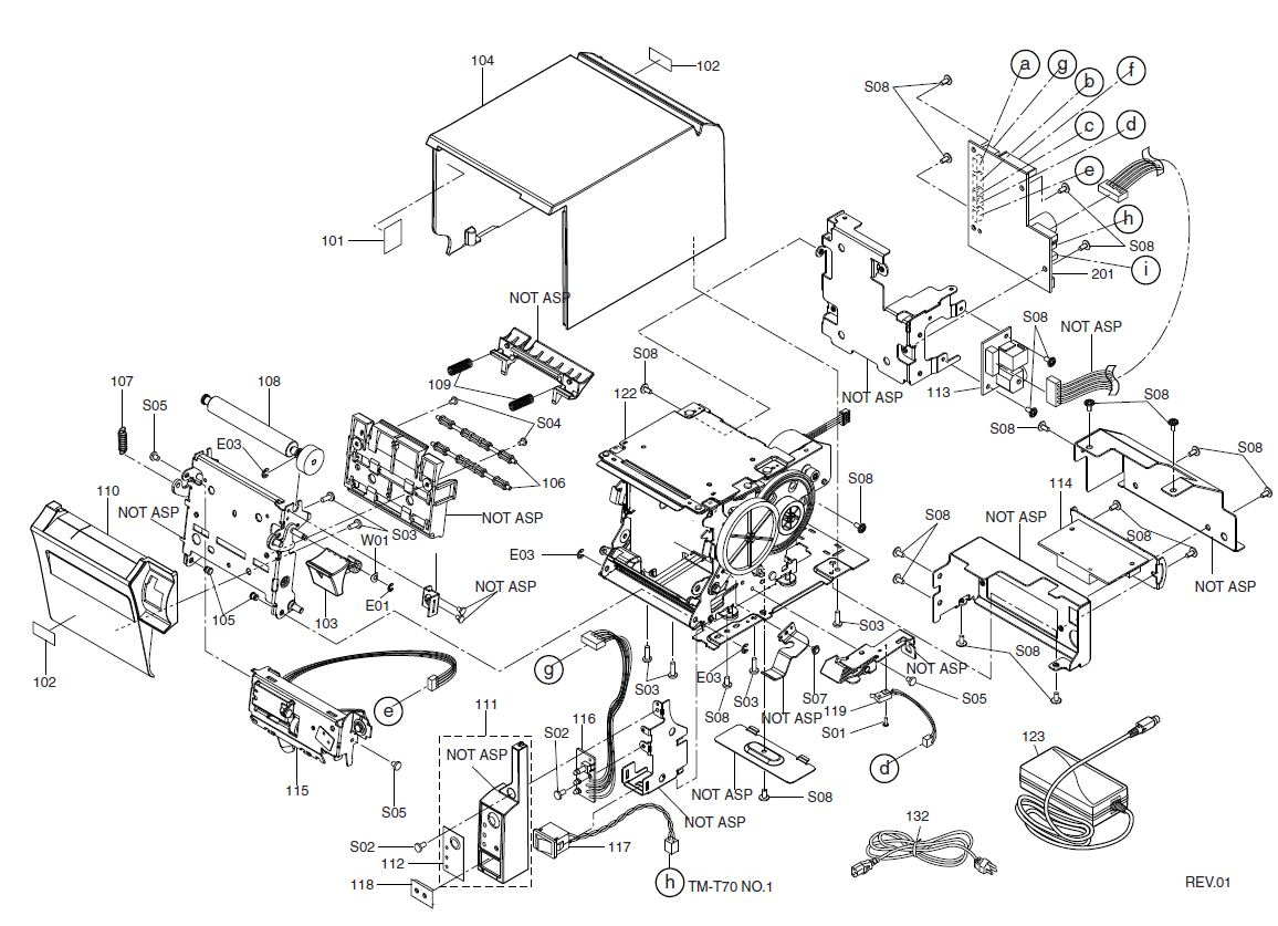 Epson TM-T70 Printer Part (TM70X)