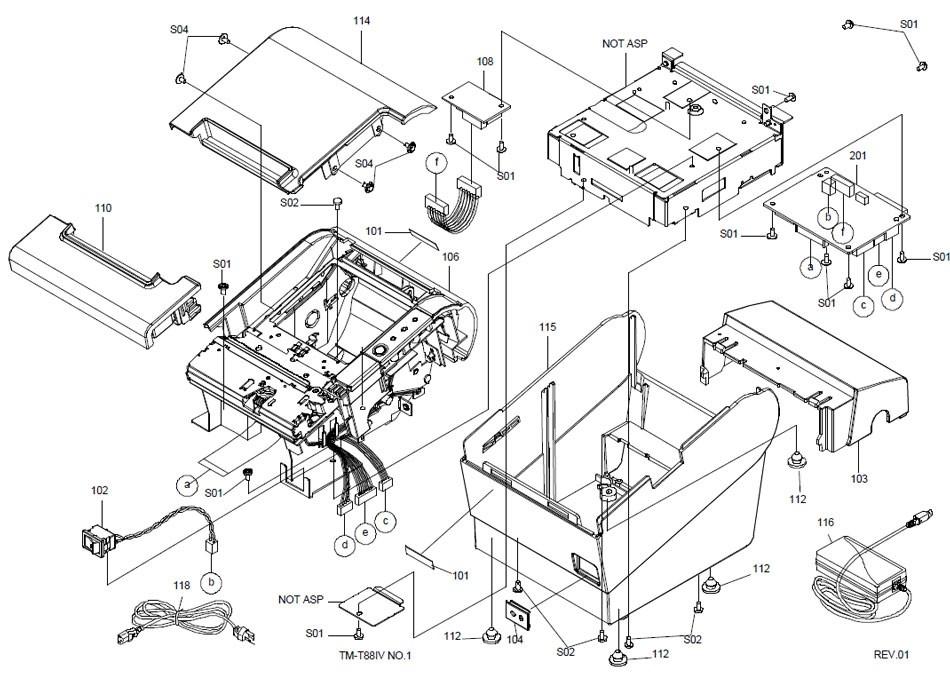 Epson TM-T88IV Printer Part (TM884X)