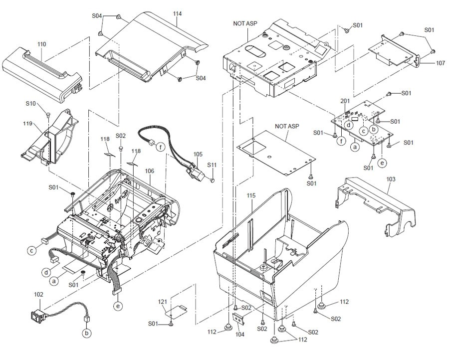 Epson TM-T88V Printer Part (TM885X)