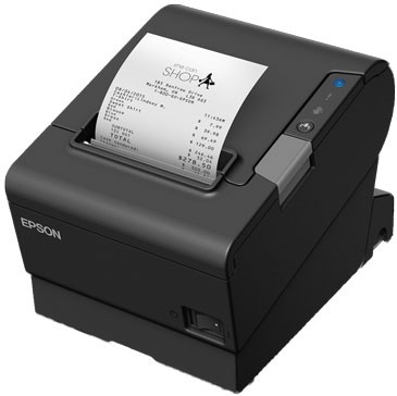 Epson TM-T88VI Serial Printer; no P/S; black (TM886SBBNG)