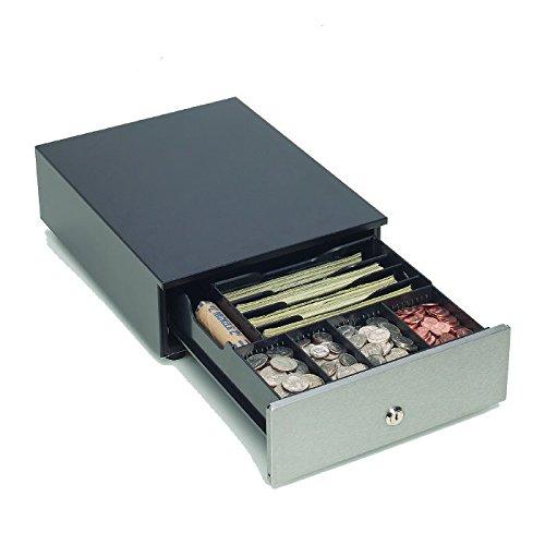 MMF 10 Value Cash Drawer, Stainless, black (MMFV1013SGN)