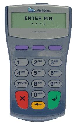 VeriFone 1000SE  PIN pad, no cable (VF1000)