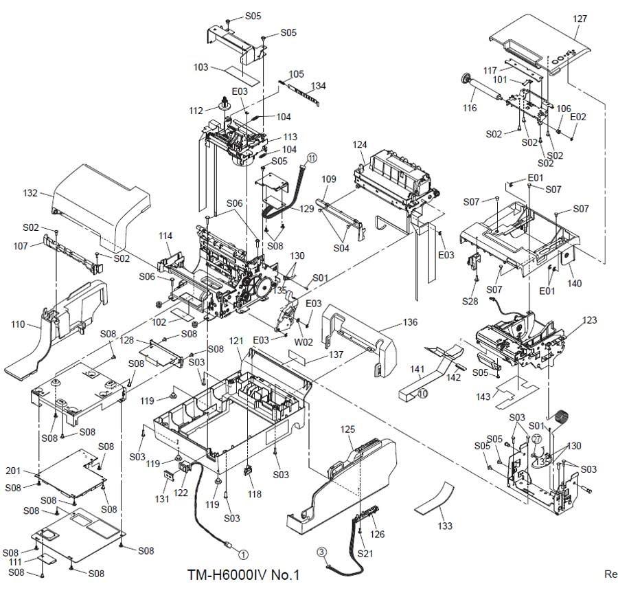 Epson TM-H6000IV Printer Part (TM60004X)