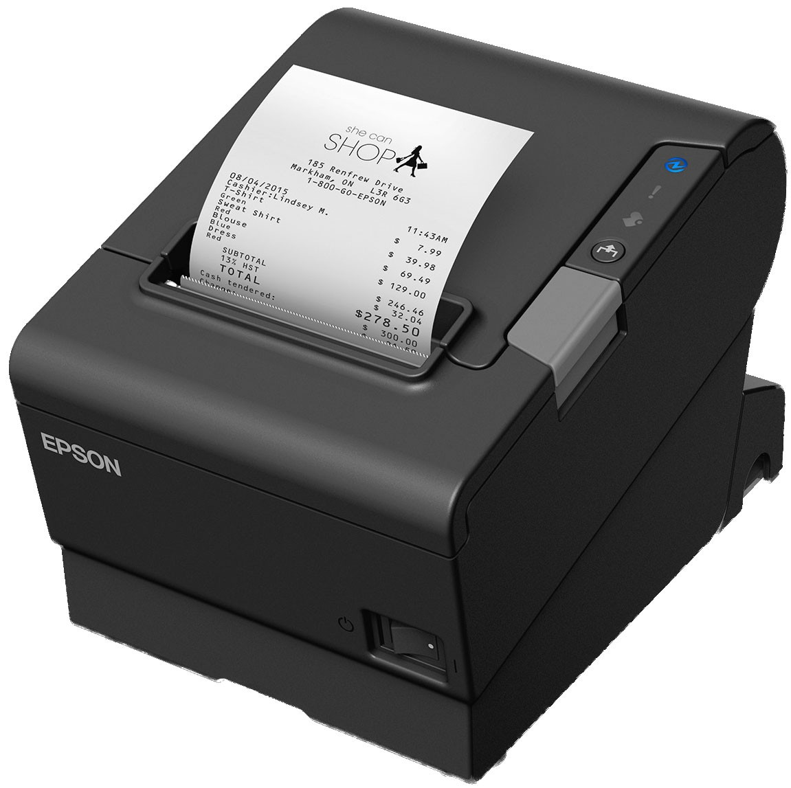 Epson TM-T88VI Powered USB Printer; black (TM886PUNG)
