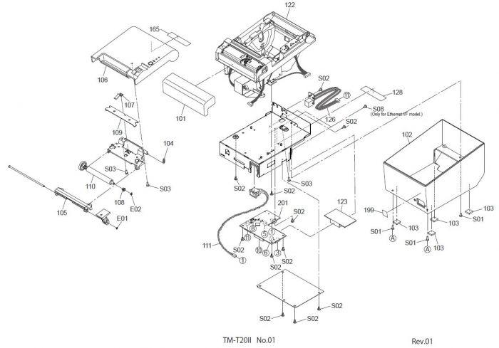 Epson TM-T20 Printer Part (T20X)