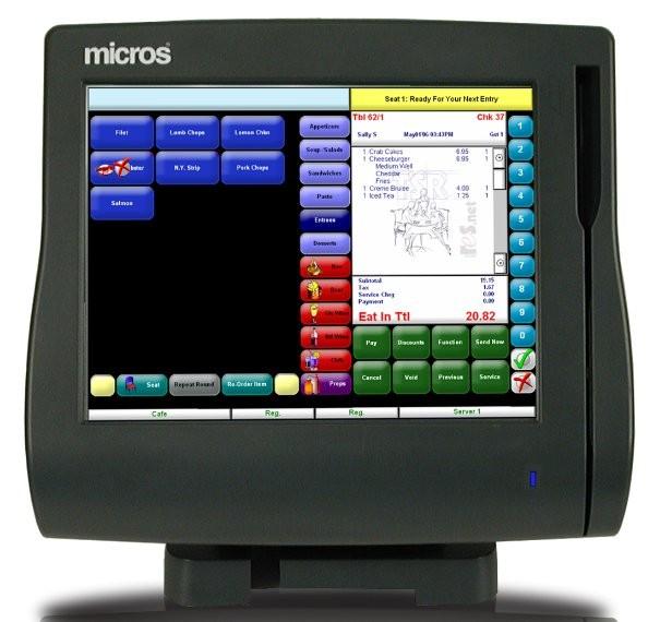 Micros WS4LX Terminal with Stand (MWS4LX)
